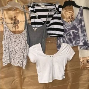 Bundle of five Cute Crop Tops size small